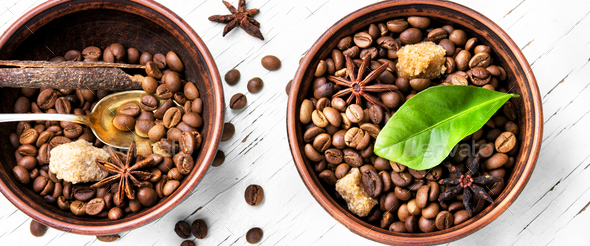 Coffee roasted bean - Stock Photo - Images