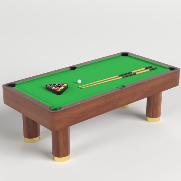 Billiard Pool Table GR - 3DOcean Item for Sale