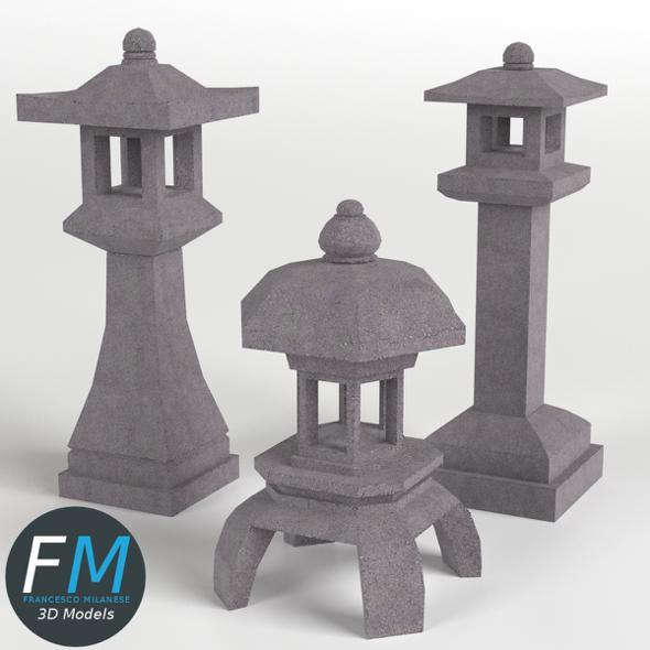 Japanese Toro Lanterns GR - 3DOcean Item for Sale