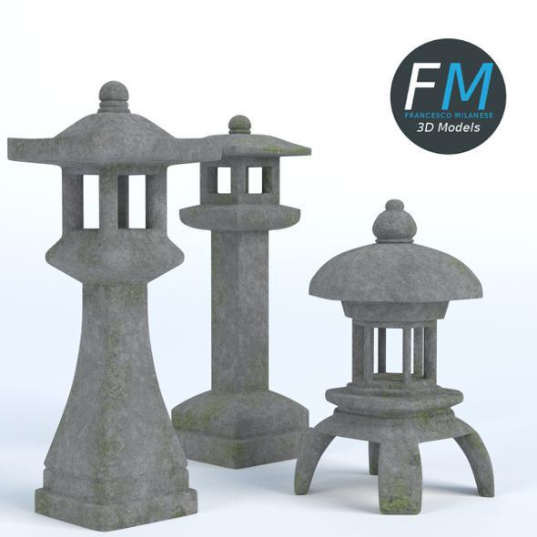 Japanese Toro Lanterns - 3DOcean Item for Sale