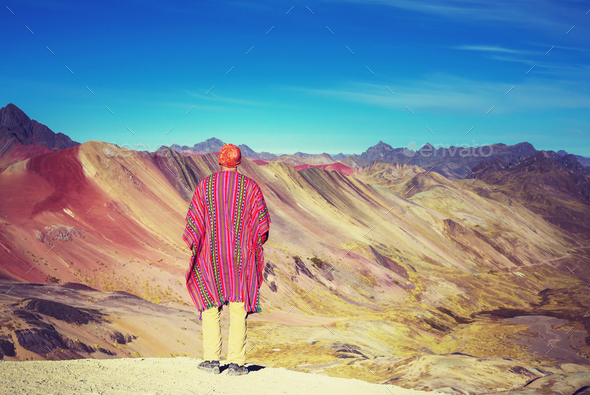 Rainbow mountain - Stock Photo - Images