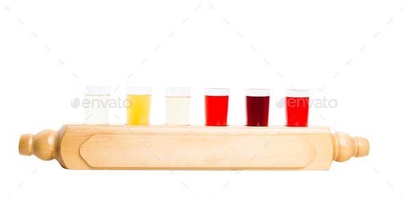 Alcoholic tinctures mix. - Stock Photo - Images