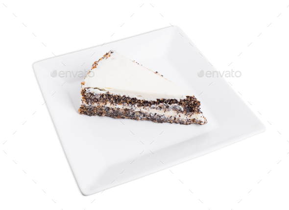 Delicious poppy seed cake. - Stock Photo - Images