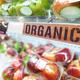 Organic food signage on modern supermarket fresh produce fruits - PhotoDune Item for Sale