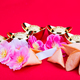 Fortune cookies, decorative gold nuggets, plum blossom flowres r - PhotoDune Item for Sale