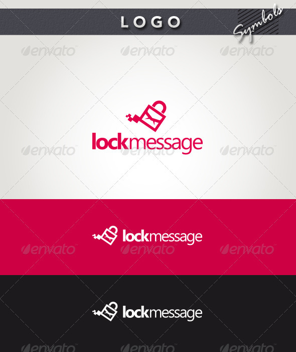 Lock Message Logo - Symbols Logo Templates