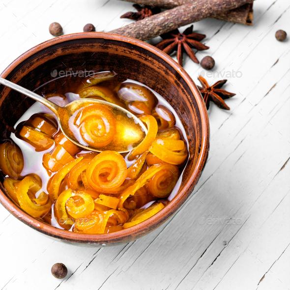 Jam from orange - Stock Photo - Images