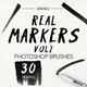 30 Real Marker Brushes Vol2 - GraphicRiver Item for Sale