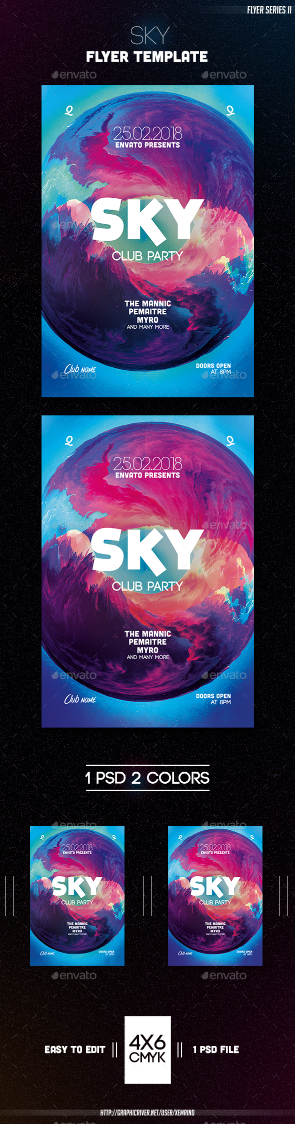 Sky Flyer Template - Clubs & Parties Events