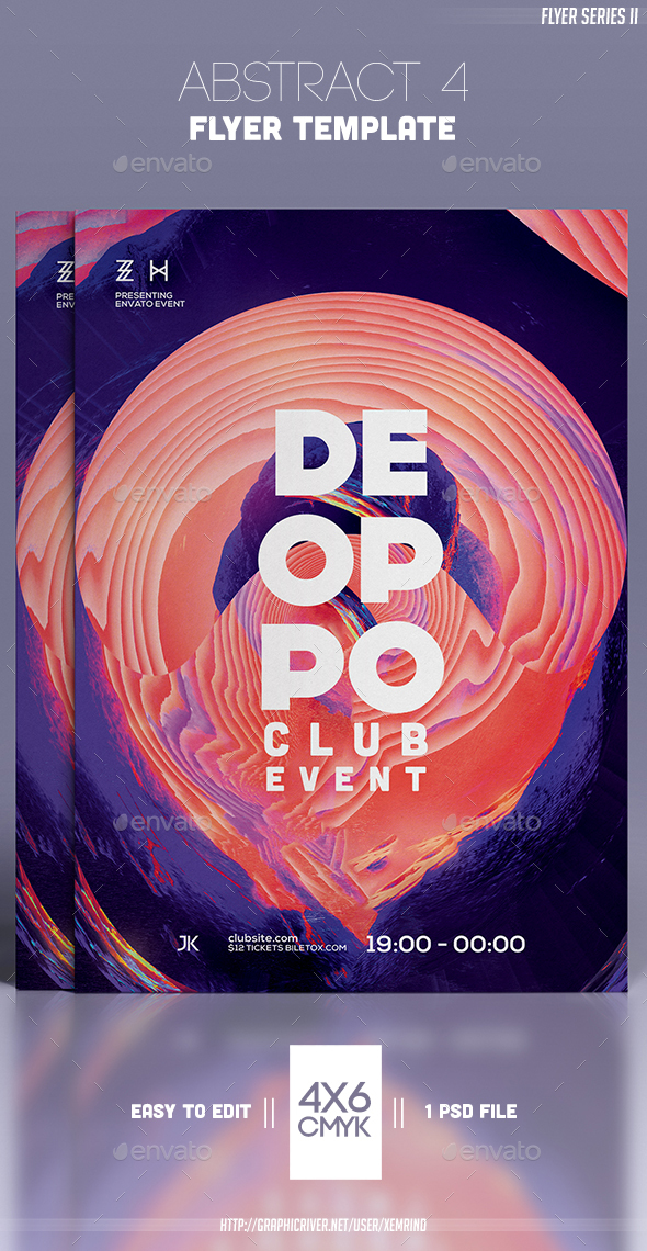 Abstract 4 Flyer Template - Clubs & Parties Events
