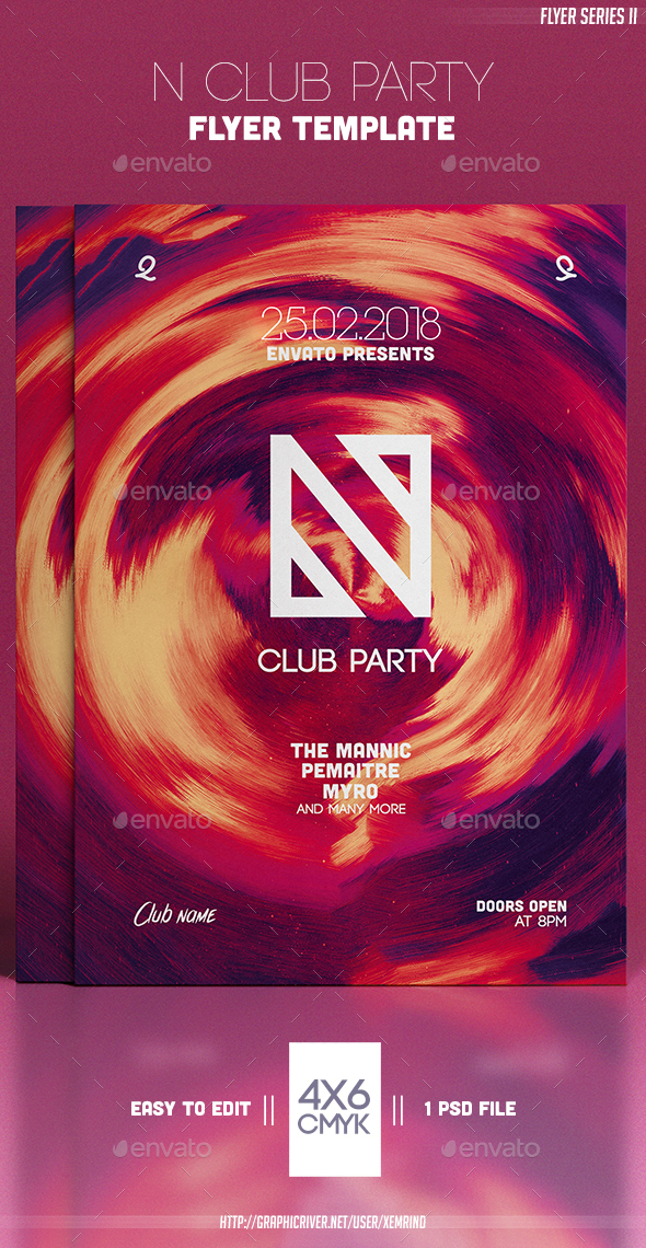 N Club Party Flyer Template - Clubs & Parties Events