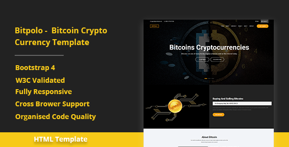 Bitpolo - Bitcoin Cryptocurrency Template - Business Corporate