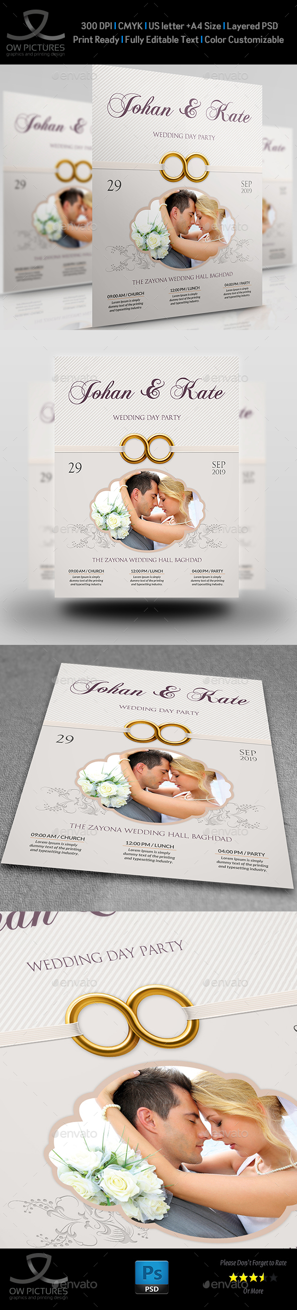 Wedding Party Flyer Template Vol.7 - Events Flyers