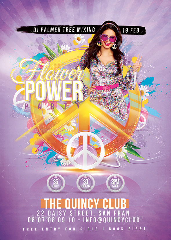 Peace Party Flower Power - Clubs & Parties Events