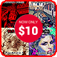 Artist Actions Bundle 4 in 1 - GraphicRiver Item for Sale