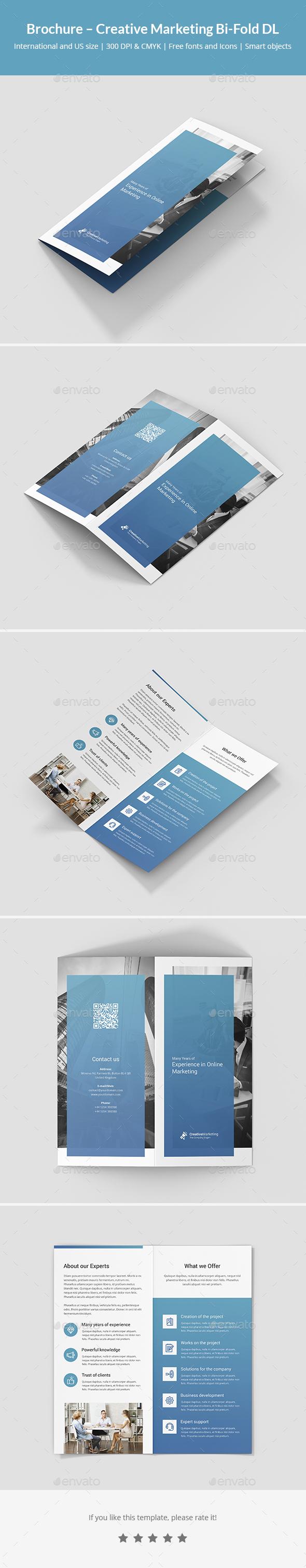 Brochure – Creative Marketing Bi-Fold DL - Corporate Brochures