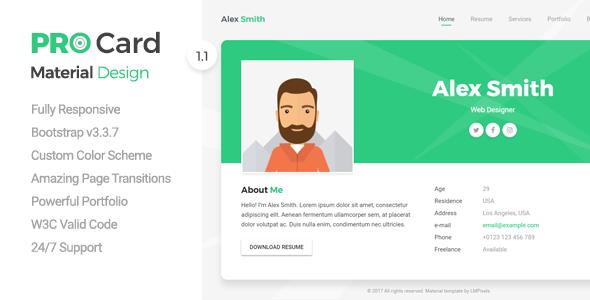 Resume/ CV/ vCard & Portfolio
