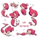 Set of Cartoon Mermaids - GraphicRiver Item for Sale