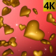 Gold Hearts Falling - VideoHive Item for Sale