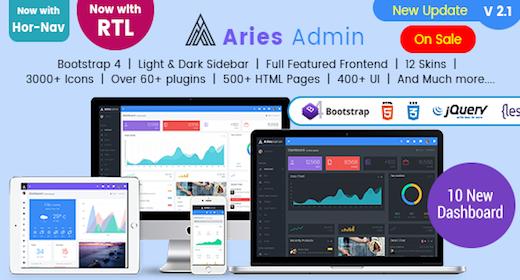 Aries Admin - Responsive Bootstrap 4 Admin, Dashboard & WebApp Template