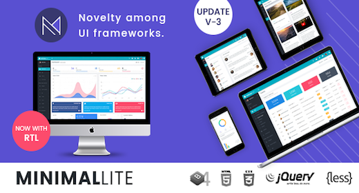 Minimal Lite - Responsive Bootstrap 4 Admin, Dashboard & WebApp Template