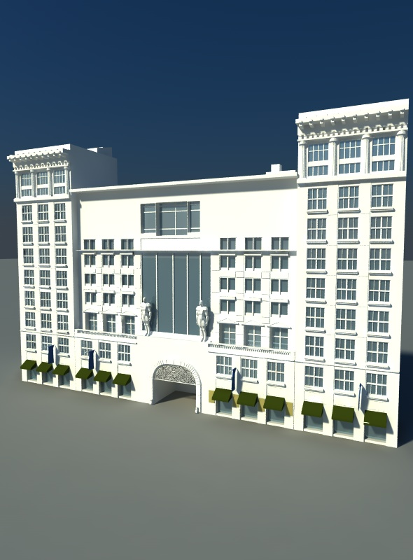 Avenue Buildings - 3DOcean Item for Sale