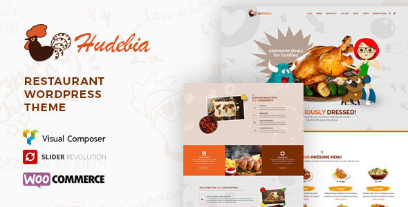 Hudebia - Restaurant WordPress Theme - Restaurants & Cafes Entertainment