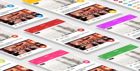 Multipurpose News App Template UI Ionic 3 - CodeCanyon Item for Sale
