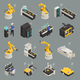 Smart Industry Isometric Icons Set