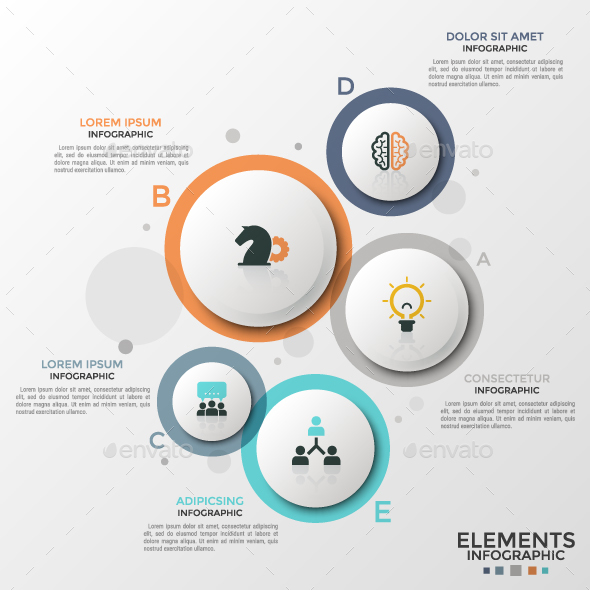 Modern Infographic Circles Template - Infographics