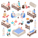 Spa and Beauty Isometric Set