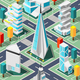 Futuristic Architecture Isometric Background