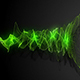 Green Energy Audio Spectrum Particles Background - VideoHive Item for Sale