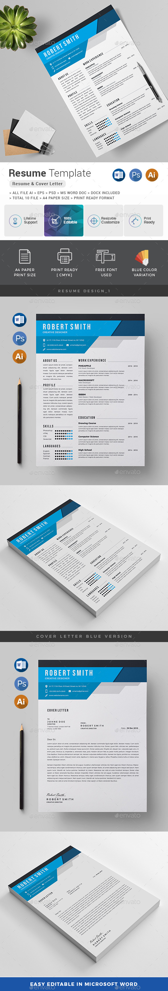 Resume by generousart | GraphicRiver