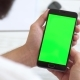 Black Smartphone with Green Screen for Chroma Key Compositing the Hands of a Man - VideoHive Item for Sale