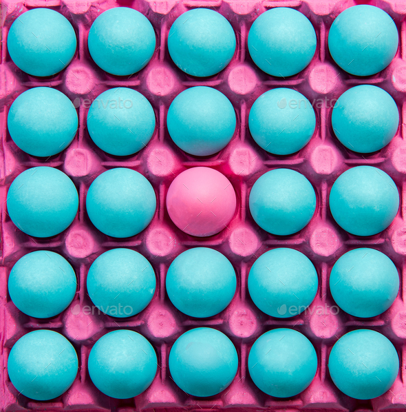 Be different creative visual art, pastel eggs - Stock Photo - Images