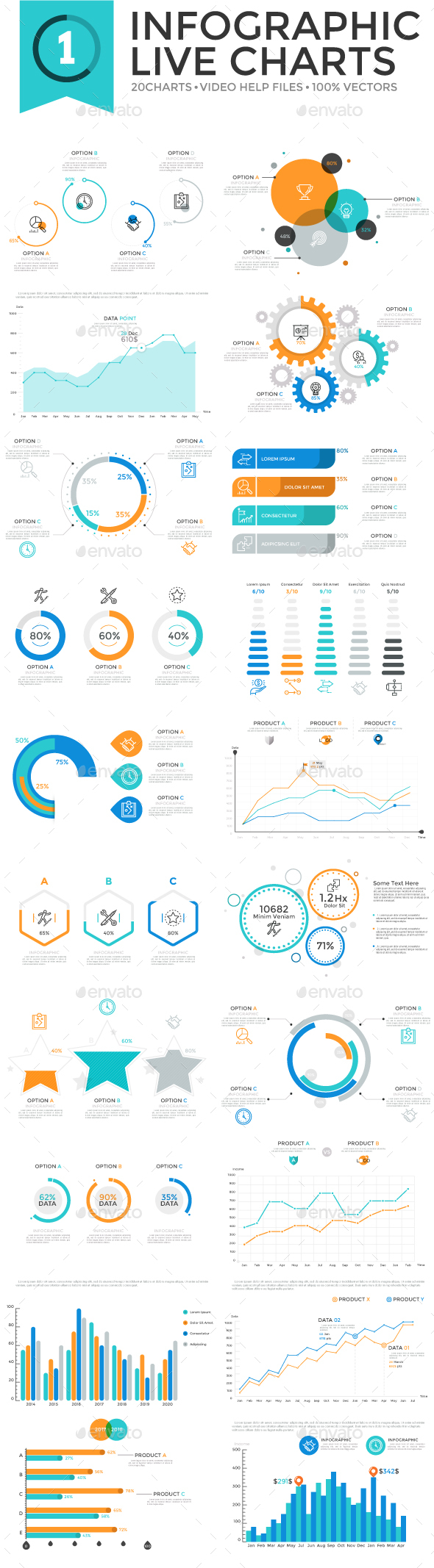 Infographic Live Charts v.1 - Infographics