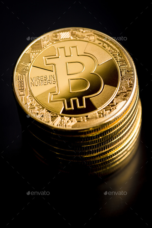 Bitcoin. Digital cryptocurrency. - Stock Photo - Images