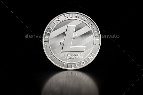 The silver litecoin. - Stock Photo - Images
