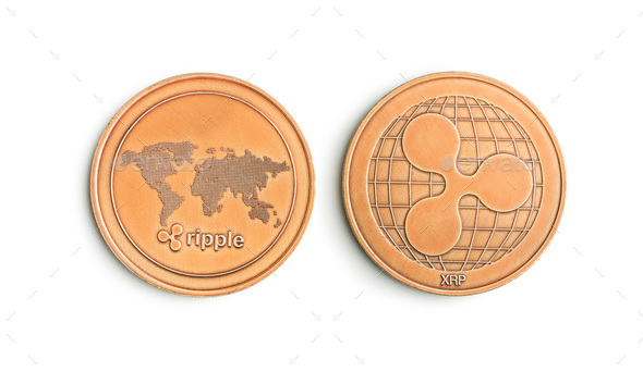 Golde ripple coins. - Stock Photo - Images