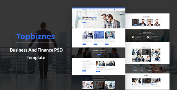 Topbiznes – Business & Consulting PSD Template. - Business Corporate