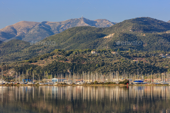 Sailboats in Lefkada, Greece - Stock Photo - Images