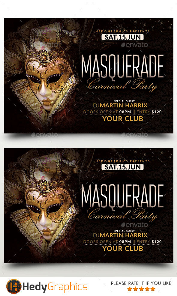 Masquerade & Carnival Party - Events Flyers