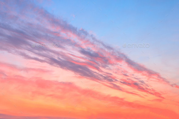beauty colorfully northern sunset sky - Stock Photo - Images