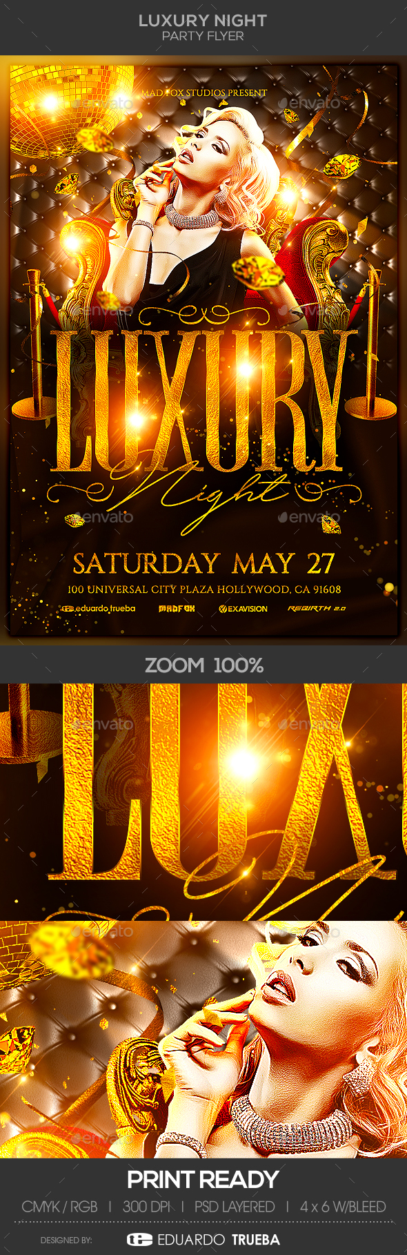 Luxury Night Party Flyer - Events Flyers