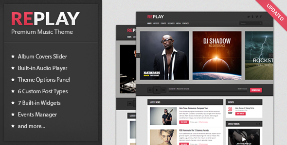 Replay - Responsive Music WordPress Theme - Music and Bands Entertainment