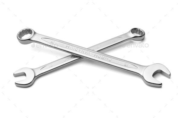 Pair of spanners - Stock Photo - Images