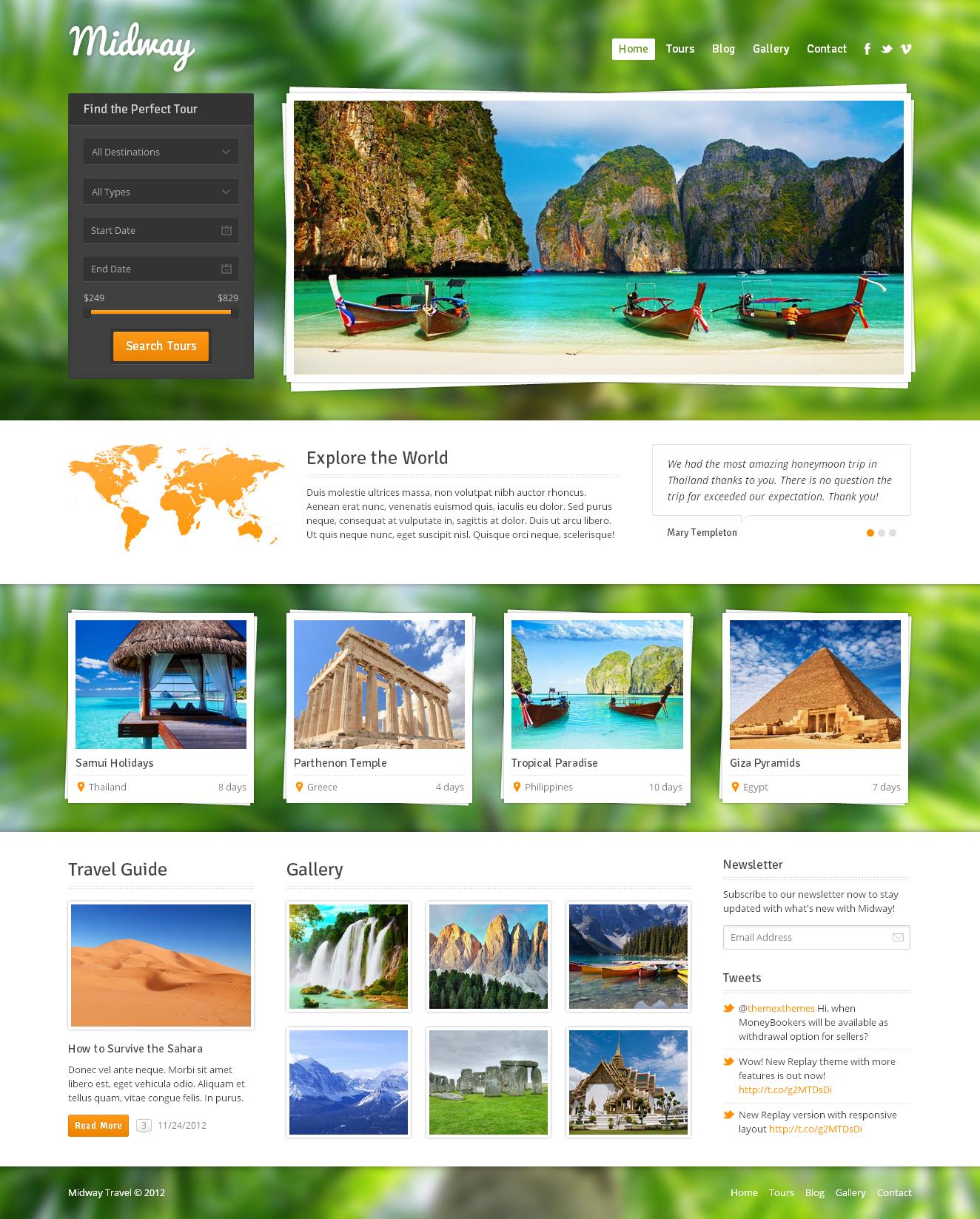 wordpress travel theme