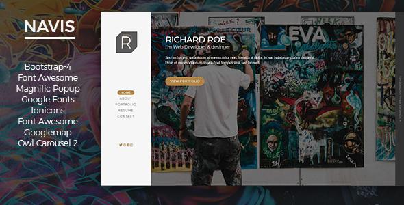 NAVIS - Personal Portfolio & vCard. - Personal Site Templates