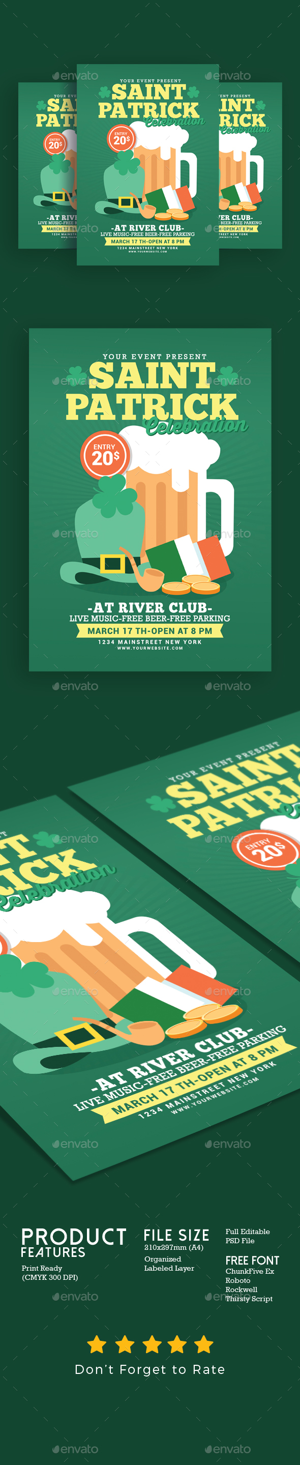 Saint Patrick Celebration Flyer - Events Flyers